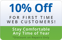 First time web customers with Virginia Heating and Cooling save 10%