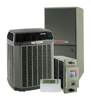 Newport News HVAC, heating and cooling unit, featuring Trane, Carrier and Honeywell